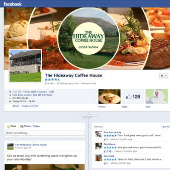 Hideaway Coffee House Facebook