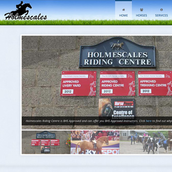 Holmescales Riding Centre Website